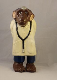 Funny Vintage1975 Monkey Chimpanzee Doctor by CherryValleyVintage, $24.99
