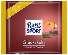 RITTER SPORT Fake Schokolade Sorte Glückskeks