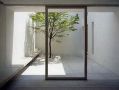 View Towards The Patio From Inside The Tetsuka House By John Pawson. - View Towards The Patio From Inside The Tetsuka House By John Pawson. View Towards The Patio From - Minimalist House Design, Minimalist Home Interior, Modern Interior Design, Modern Minimalist, Classic Interior, Design Interiors, Modern Classic, Detail Architecture, Space Architecture