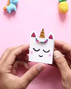 Cool Paper Crafts, Paper Crafts Origami, Diy Crafts Hacks, Diy Crafts For Gifts, Creative Crafts, Easy Crafts, Halloween Crafts For Kids, Diy Birthday, Diy Videos