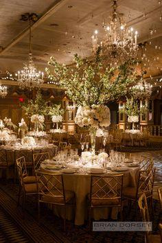 photographer: Brian Dorsey Studios; classy ballroom wedding reception idea