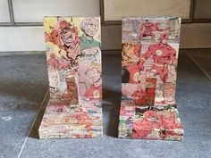 Check out this item in my Etsy shop https://www.etsy.com/ca/listing/566958429/the-flash-wooden-bookends-comic-book-the