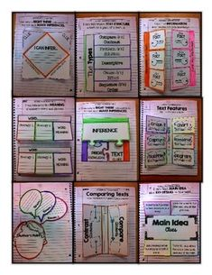Reading Interactive Journal Notebook CCSS Aligned by Valerie Steinhardt Interactive Reading Journals, Reading Notebooks, Interactive Learning, Interactive Student Notebooks, Social Studies Notebook, Teaching Social Studies, Teaching Aids, Teaching Themes, Writers Notebook