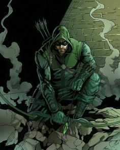 """[I can't be the pretty boy I once was."" Green Arrow belongs to DC Comics portfolio website: philc. The [Green] Arrow Arte Dc Comics, Dc Comics Art, Anime Comics, Comic Book Characters, Comic Book Heroes, Comic Character, Comic Books Art, Comic Art, Dc Comics"