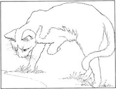 warrior cat cartoon coloring pages - photo#17