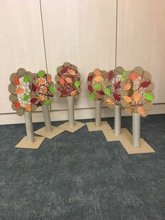Autumn Crafts, Autumn Art, Autumn Trees, Autumn Activities For Kids, Fall Preschool, Diy And Crafts, Crafts For Kids, How To Make Toys, Forest School