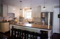 Cream and Grey Kitchen - traditional - kitchen - salt lake city - Sheri lermusiaux How To Make Kitchen Cabinets, Kitchen Cabinets To Ceiling, Kitchen Cabinet Doors, White Kitchen Cabinets, Kitchen Cabinetry, Kitchen Storage, Shaker Cabinets, Shaker Kitchen, Kitchen Paint
