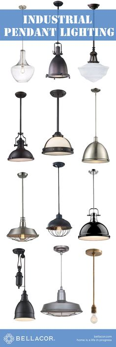 Shop Industrial Pendant Lighting in every shape an… Diy Pendant Light, Industrial Pendant Lights, Pendant Lighting, Industrial Table, Kitchen Industrial, Modern Industrial, Industrial Farmhouse, Farmhouse Style, Industrial Stairs