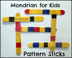 Piet Mondrian's work show us the importance of focusing on what's truly important. So here're 10 Piet Mondrian's projects for kids to get inspired from! Piet Mondrian, Mondrian Kunst, Mondrian Art Projects, Class Art Projects, Projects For Kids, Kindergarten Art, Preschool Art, Artists For Kids, Art For Kids