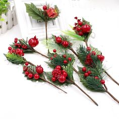1 pcs Artificial Flower Stamens Pearl Branches Mixed Berry For Wedding Decoration DIY Christmas Party Decorations Gift Box
