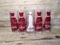 Wedding Glasses Personalized by NerdyGiirlCouture on Etsy