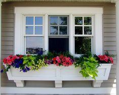 Husband will make for enclosed back porch #windowplanter