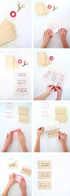 How to Print Onto Wood from Oh the Lovely Things!