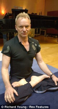 Sting hasn't missed a day of Yoga in 20 years www.downdogboutique.com
