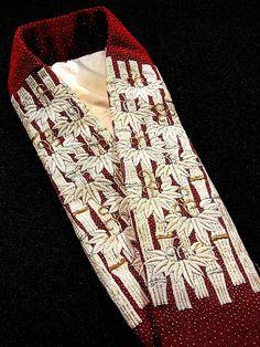 Fancy silk maiko collar - to be worn with susohiki furisode - from Ichiroya