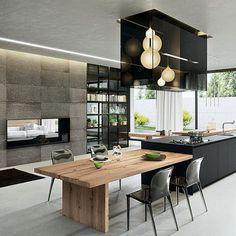 Organic, industrial blend of luxury modern interiors