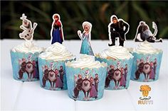 Baking Cups & Liners New Frozen Birthday Party Favors Anna Elsa Olaf Cupcake Rings Baking Cups Spare No Cost At Any Cost