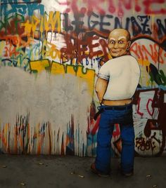 Street Art by Dran aka  wall art bansky graffiti grafic paint street art