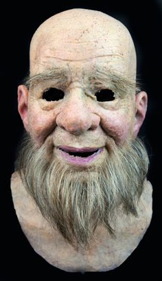 """NEW Hand Made, Pro Silicone Mask Old Man """"Alfred"""" High Quality, Realistic. Realistically natural skin appearance, complete with hand-made moles, warts, liver spots, veins, wrinkles and individually-inserted eyebrow, facial hairs.   eBay!"""