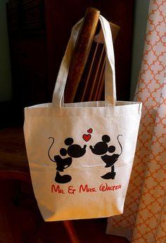 Disney Wedding tote bag Disney bridal tote Disney by rachelwalter