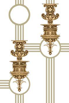 Design Seeds, Textile Design, Baroque, Ornaments, Pattern, Color Palettes, Christmas Decorations, Ornament, Decor