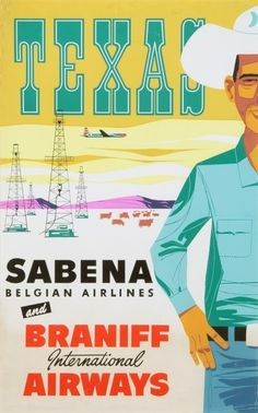 Sabena and Branff Airlines poster