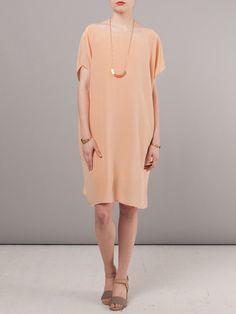 Jesse Kamm Nude Silk Sack Dress