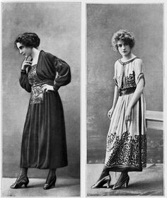 "Paris Fashion in 1917; From ""Les Modes,"" 1917"