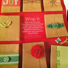 Cute present wrapping!
