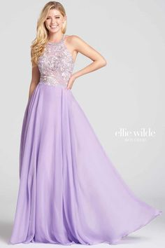 This Ellie Wilde lilac bridesmaid dress really is fit for a princess. The romantic design and lace applique detail is to-die-for and we love the floaty skirt. It's an incredible design that is well worthy of a glamorous wedding. Bridesmaid Dresses Purple Lilac, Lilac Dress, Short Bridesmaid Dresses, Homecoming Dresses, Lavender Gown, Bridesmaids, Wedding Dresses For Girls, Girls Dresses, Sweet Dress