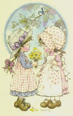 Sarah Kay~~ from me to you☀❤ my friend. Holly Hobbie, Vintage Pictures, Pretty Pictures, Image Deco, Sara Kay, Creation Art, Creative Pictures, Australian Artists, Cute Illustration