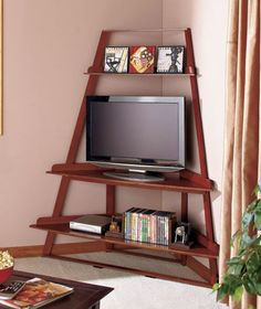 furniture cool picture nice designs looks so unique brown color wall picture good small tv small shaped picture storage nice some books there make your - Tv Stands Corner