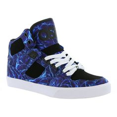 Osiris NYC 83 VLC Men's Blue Skate 9.5 M ($58) ❤ liked on Polyvore featuring men's fashion, men's shoes, men's sneakers, blue, mens hi tops, mens hi top shoes, mens high top sneakers, mens sneakers and mens shoes