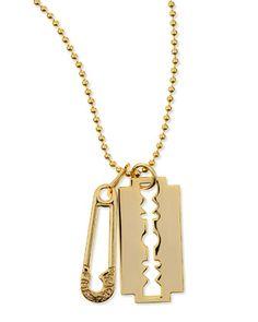 Razor Pendant Necklace, Golden by McQ Alexander McQueen at Neiman Marcus.