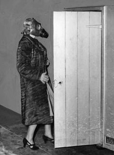 Gas masks an essential accessory during World War Two