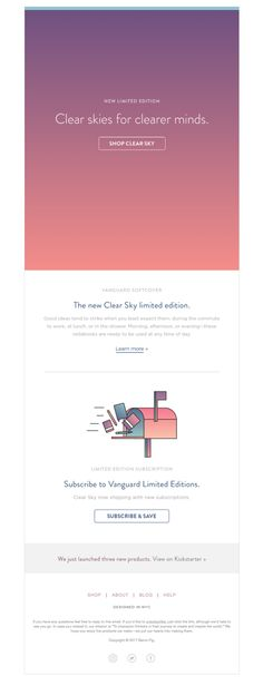 93 best product launch emails images on pinterest baronfig sent this email with the subject line clear skies the new vanguard maxwellsz