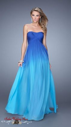 New Arrival Blue Ombre Long Evening Dress Party Elegant Sexy 3 Color to Choose In Stock Cheap Prom Dresses Fast Shipping 2015 -in Evening Dresses from Weddings & Events on Aliexpress.com | Alibaba Group
