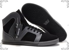 Supra Pilot NS Black Grey Suede Shoes ecb8f7db9f