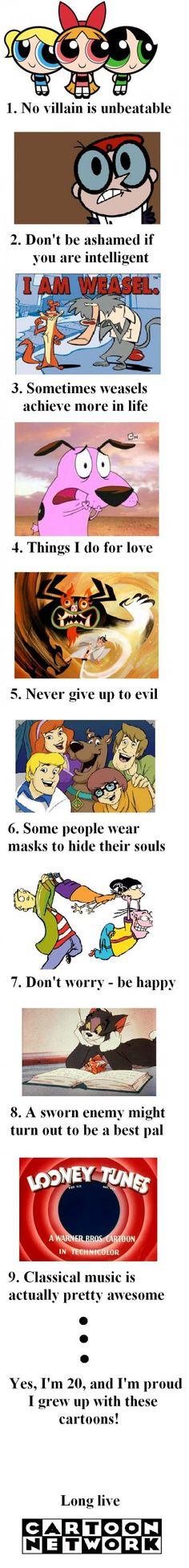 Cartoon Network. was it just me or did you think the scooby one was deep.