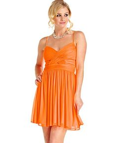 Hailey Logan Juniors Dress, Sleeveless Pleated Cutout A-Line