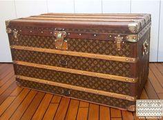 Restauration bois bagage ancien Goyard - Malle Louis Vuitton