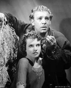 This is a picture of curley and curley wife in the story they where the only couple on the ranch in the story of mice and men Betty Field, Lon Chaney Jr, Dramatic Arts, Of Mice And Men, Old Hollywood Glamour, The Ranch, Dracula, Cinema, English