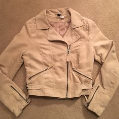 Suede Jacket Size 8 super cute jacket from h&m Divided. In great condition, very gently used. sadly it does not fit me anymore H&M Jackets & Coats
