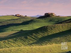 Landscape of the Crete Senesi Area, Southeast of Siena, Near Asciano, Tuscany, Italy, Europe Photographic Print by Patrick Dieudonne at Art....