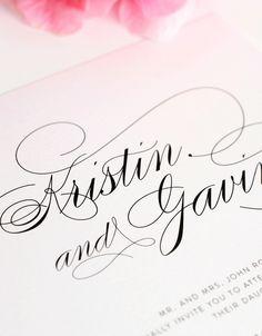 Elegant script invitations