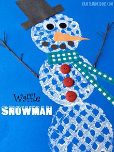 Today we are sharing a super oh-so sweet Waffle Snowman Craft over at ...
