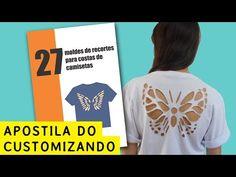 Apostila 27 moldes de recortes para costas de camisetas – Customizando – Blog de customização de roupas, moda, decoração e artesanato