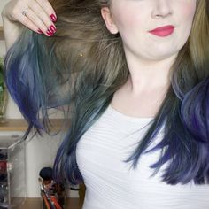 The mix of colours after using  @colourfreedomofficial dye - #blue #purple #green (taken a month ago)   #selfie #selfies #selfiesteem #happy #beautiful #beauty #vlog #vlogger #vloggers #insta #smile #potd #photooftheday #portrait #life #love #me #cute #ombre #hair #hairdye #purple #violet #crueltyfree #rose