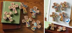 Set of 6 Inspirational Cross Magnets