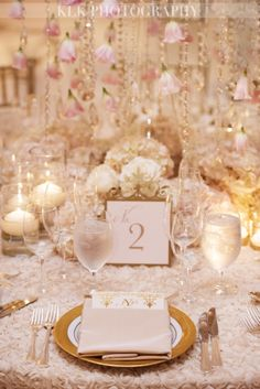 Blush + Gold dream wedding | Romantic blend of grand floral centerpieces, hanging roses and glimmering crystals | Think Pink | White Lilac Inc.